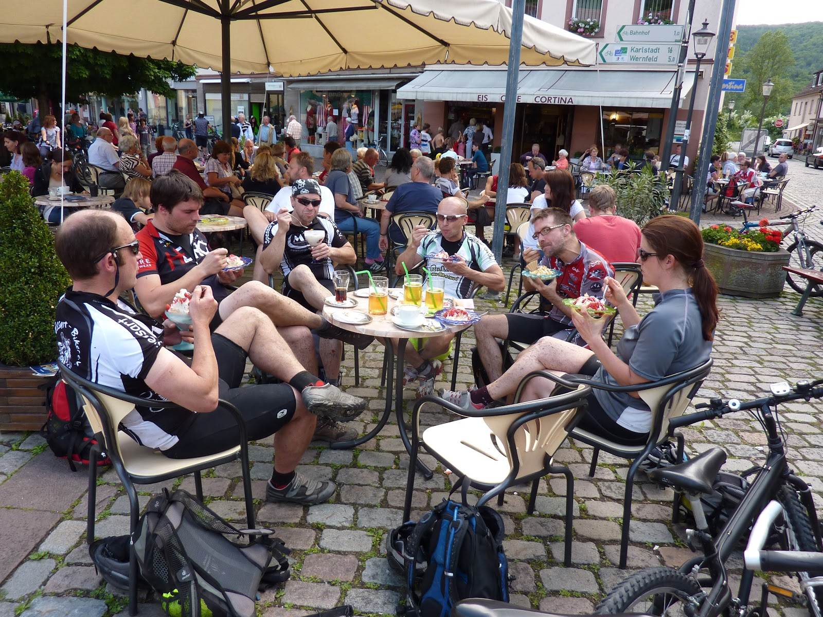 Interne Spessart-Biker Tour von Aschaffenburg nach Gemünden.