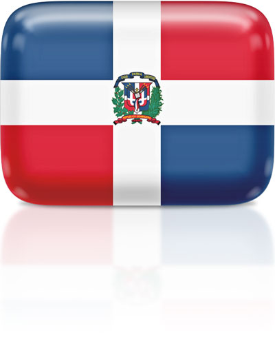 Dominican flag clipart rectangular