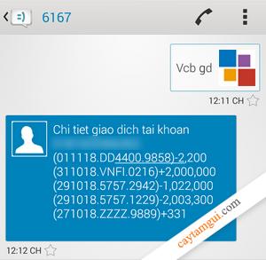Hướng dẫn kiểm tra sao kê 5 giao dịch gần nhất của Vietcombank tại nhà