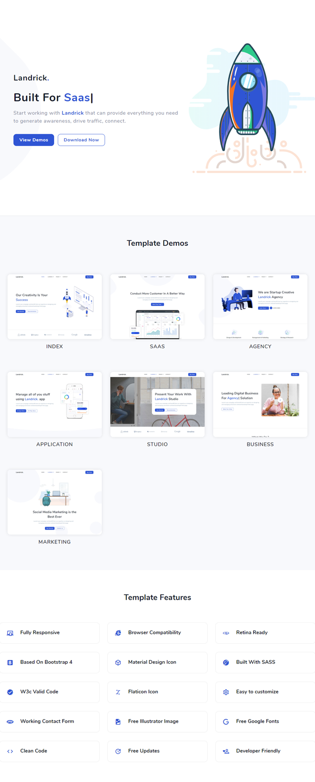 Landrick - Saas and Software Template - 2