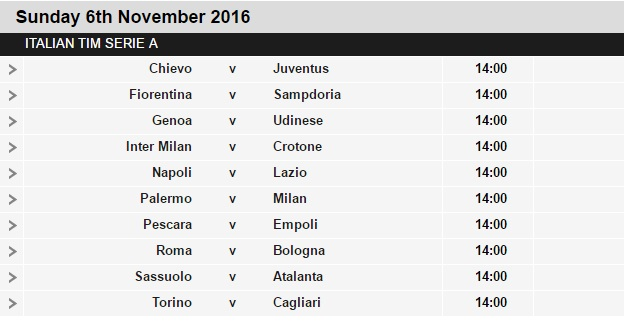 Serie%2BA%2Bschedule%2B12 Planning a Football Trip to Italy - SERIE A FIXTURES 2016/17