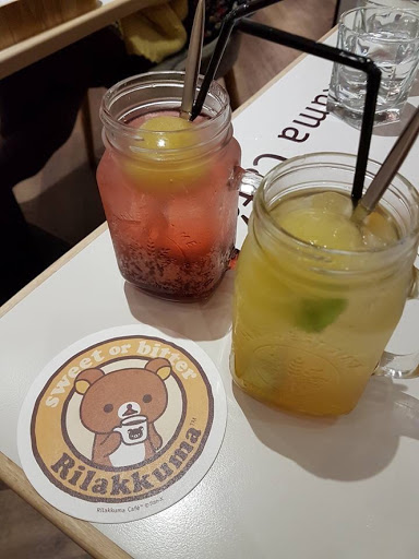 Fruit teas from Rilakkuma Cafe in Taipei Taiwan