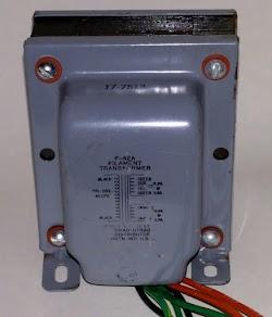 The filament transformer converts AC line input to 6.3V to power the filaments. The transformer weighs 3.5 pounds.
