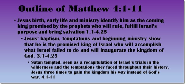 Outline of Matthew 4.1-11