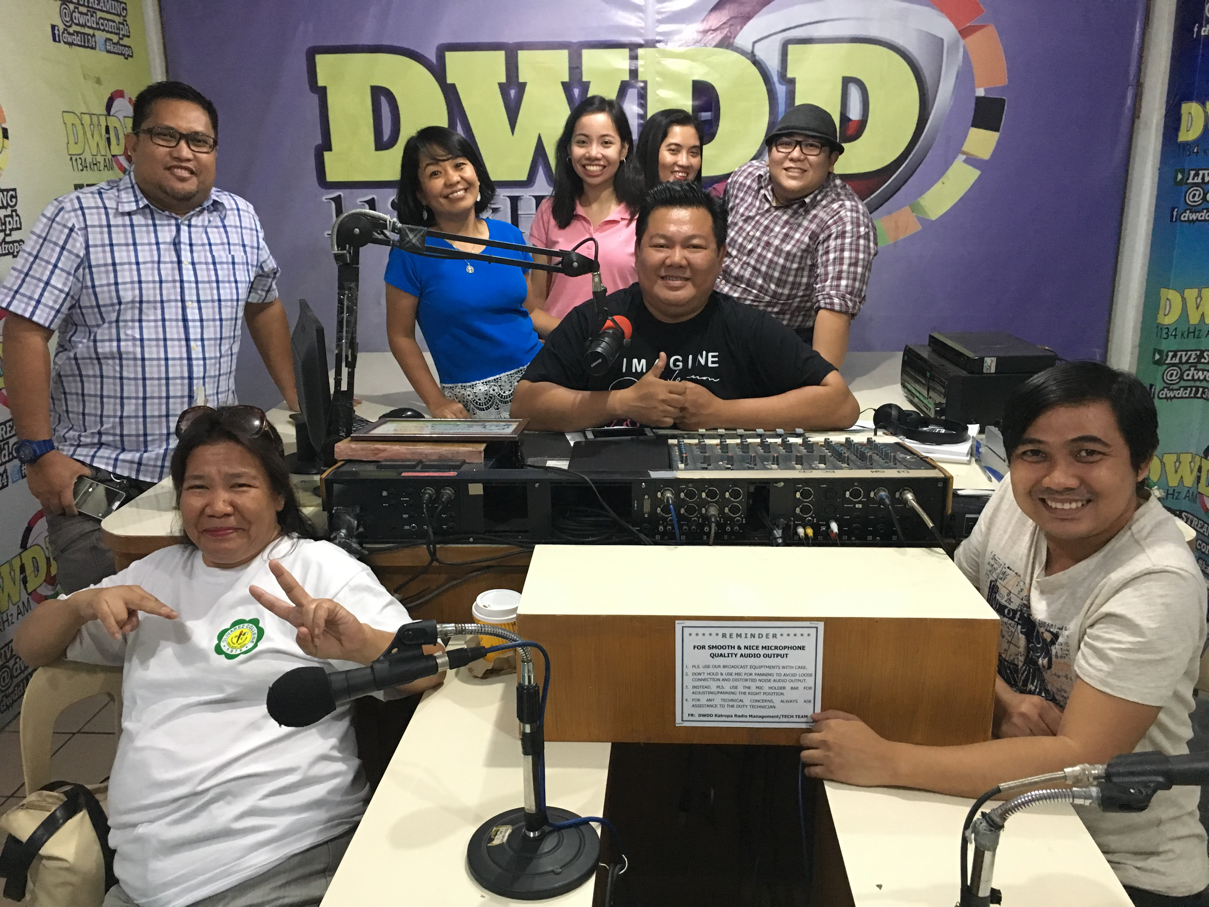 With hosts and guests of Voice of the Teachers Radio Show