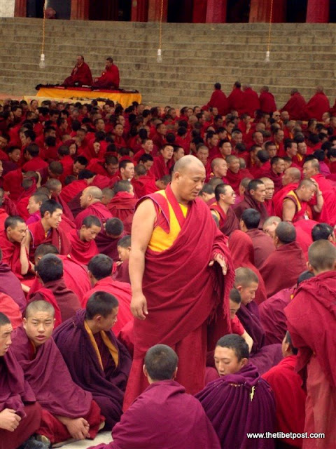 Massive religious gathering and enthronement of Dalai Lama's portrait in Lithang, Tibet. - l94.JPG