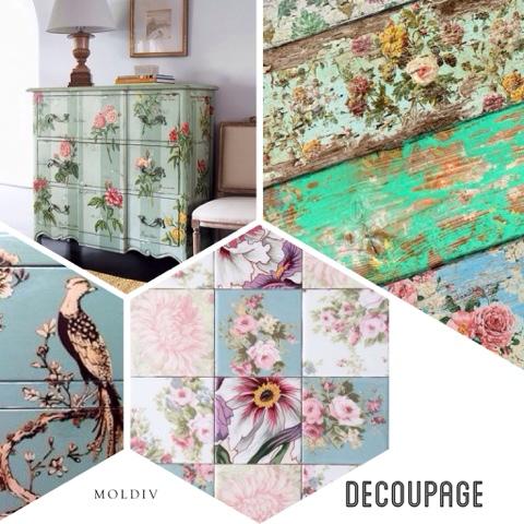 Donde aplic el decoupage el terrapieno y el craquelado for Decoupage con servilletas en muebles