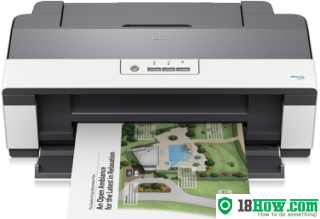 How to reset flashing lights for Epson B1100 printer