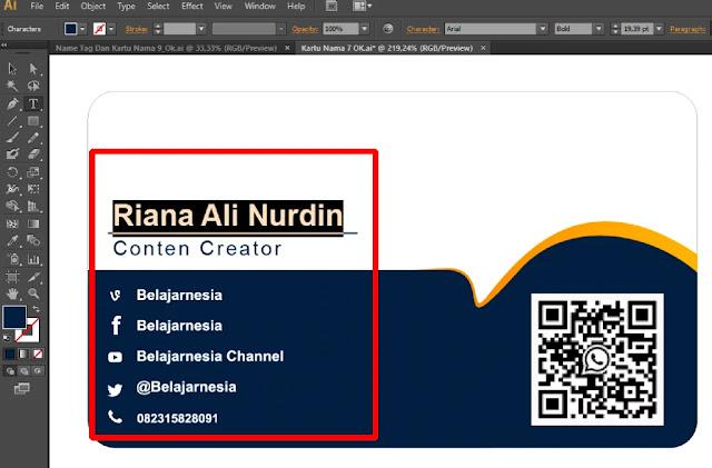 Kumpulan Kartu Nama  : Download Desain Kartu Nama Dengan Adobe Illustrator
