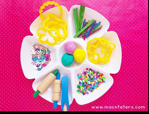 Spring Playdough Tray Invitation To Create