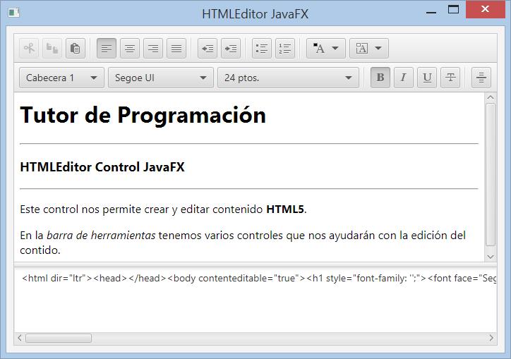 HTMLEditor control JavaFX