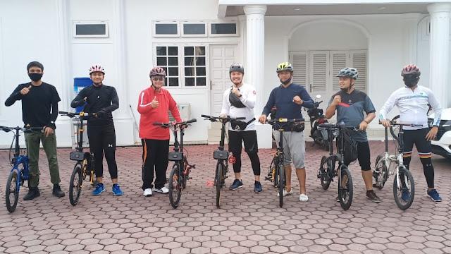 Wagub Sumbar Ajak Masyarakat Hidup Sehat dengan Olahraga Sepeda.