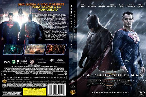 Batman v Superman El Amanecer De La Justicia – Castellano, Inglés – DVD9