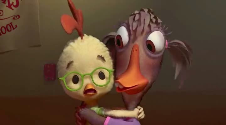 Screen Shot Of Hollywood Movie Chicken Little (2005) In Hindi English Full Movie Free Download And Watch Online at alldownloads4u.com