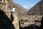 Vasilisa Meditating at The Ruins (Sacred Valley, Peru)