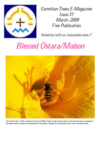 Cover of Correllian Times Emagazine's Book Issue 31 MARCH 2009 Blessed Ostara Mabon