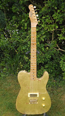 Butsetmountainmusic distressed gold Esquire electric guitar BMM