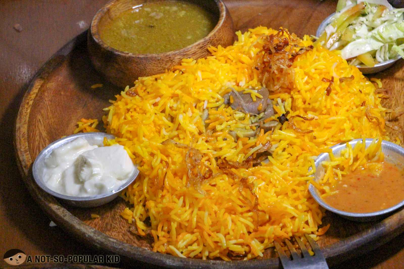 Lamb Biryani of Kite Kebab Bar - Tordesillas