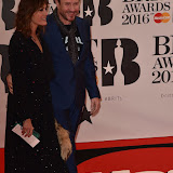 OIC - ENTSIMAGES.COM - Yasmin Le Bon and Simon Le Bon  at the  The BRIT Awards 2016 (BRITs) in London 24th February 2016.  Raymond Weil's  Official Watch and  Timing Partner for the BRIT Awards. Photo Mobis Photos/OIC 0203 174 1069