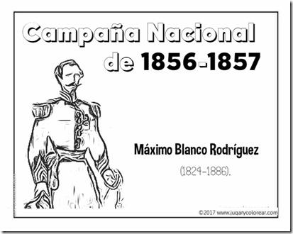 Campaña Nacional de 1856-1857 Máximo Blanco Rodríguez