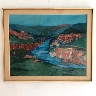 Avril Glenn Oil Landscape