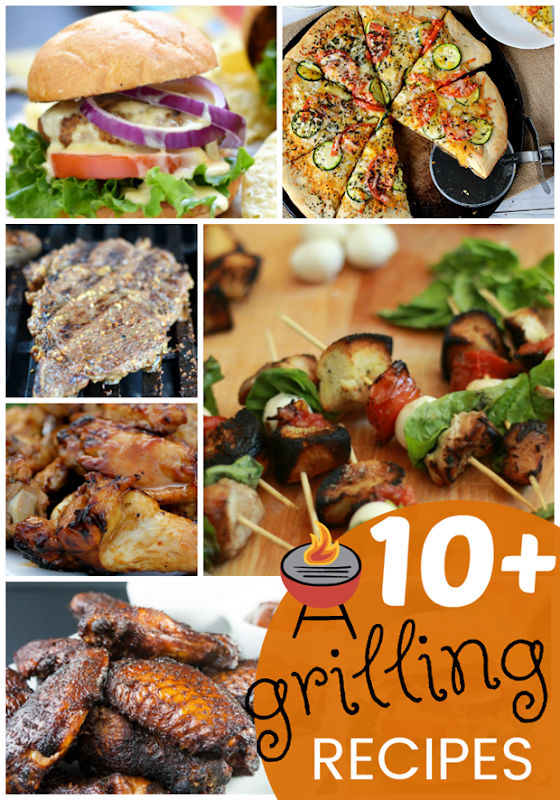 10  Grilling Recipes at GingerSnapCrafts.com #recipes #grilling #summerfun