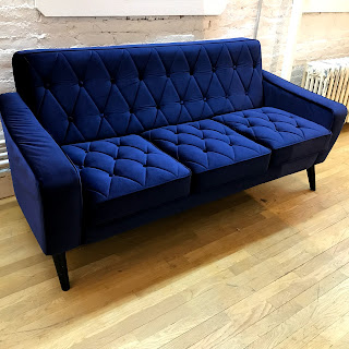 Tufted Velvet Loveseat