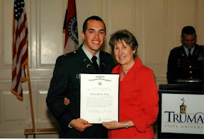 With the Truman Prez (B. Dixon) and my Officer Certificate. I rather love the placement of her right hand.