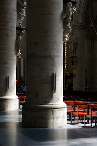 Sunlit column, Saints Michel et Gudule Cathedrale