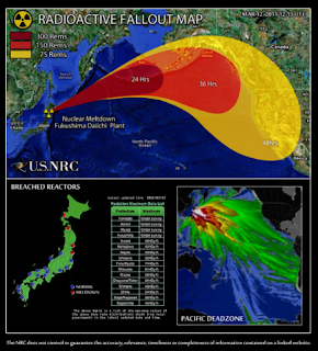 Beware of the Japanese radioactive fallout maps floating around it