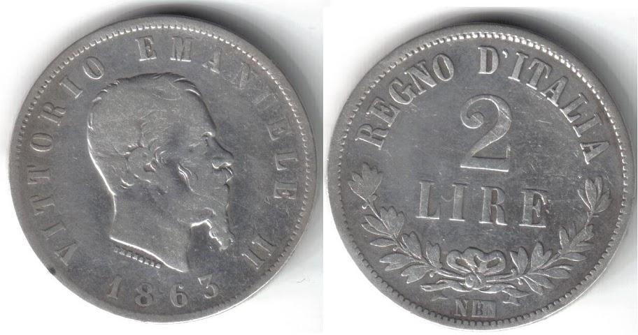 Mi colección de monedas italianas. 2%20liras%201863%20N