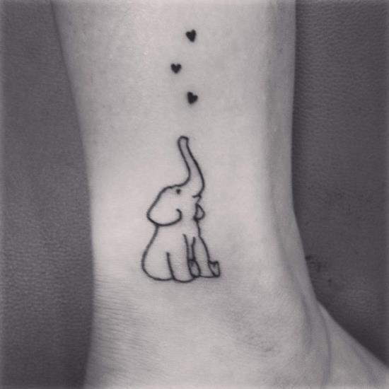 elefante_pequeno_esboço_de_tornozelo_tatuagem