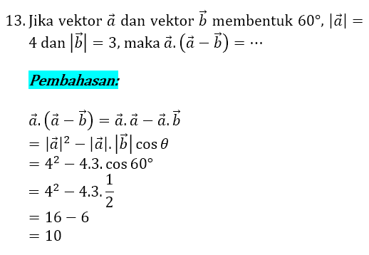 Soal dan Pembahasan Vektor 13