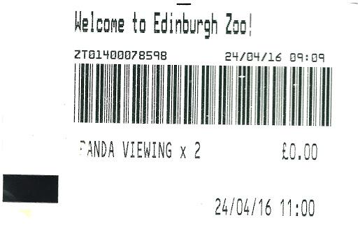 Panda Viewing Ticket