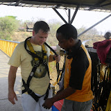 Mike prepares to bungee