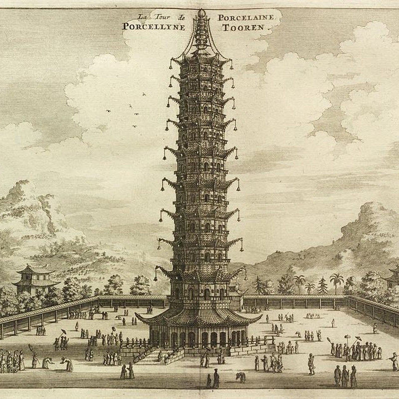 Famous Porcelain Tower of Nanjing Rebuilt