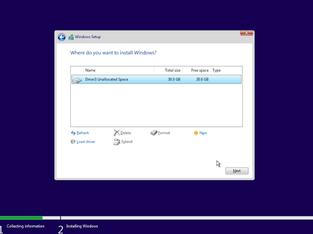 Select Drive in which you need to install Windows 11