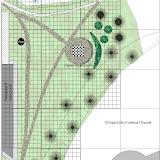 Эскиз площадки Шахматы на пустыре над истоком ручья и транзитной тропой.