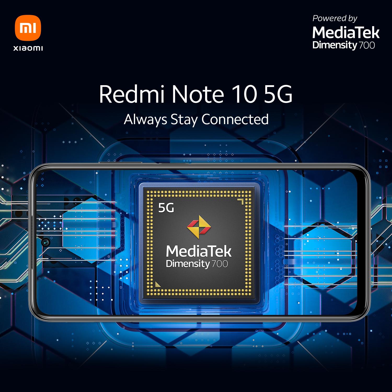 """เตรียมพบกับ """"Redmi Note 10 5G"""" สมาร์ทโฟน 5G ในราคาที่ดีที่สุดจากเสียวหมี่ ขับเคลื่อนด้วยขุมพลัง MediaTek Dimensity 700 เตรียมเปิดตัวในเมืองไทย 27 พฤษภาคมนี้ เวลา 19.00 น."""
