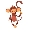 Cartoon Monkey Funny Free Download Vector CDR, AI, EPS and PNG Formats