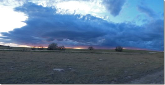 Sun setting west of Flagler, Colorado