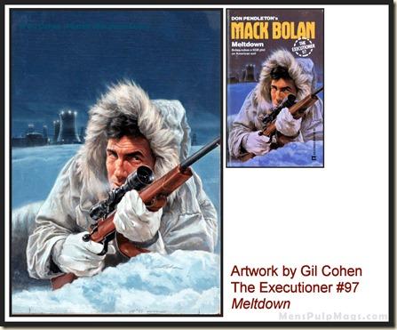 Executioner #97, art by Gil Cohen, MensPulpMags.com