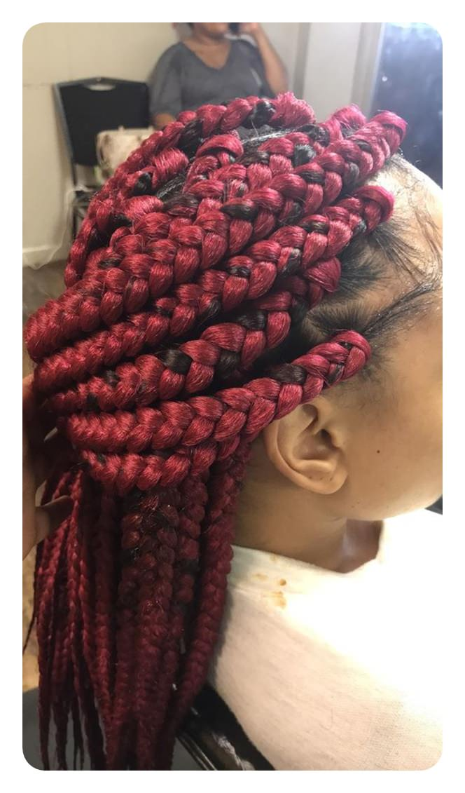 2019 Box Braids Hairstyles For Black Women 3