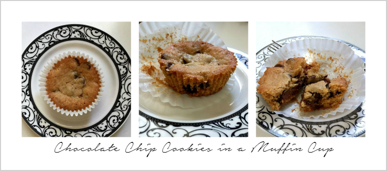 Chocolate Chip Cookies in a Muffin Cup via homework