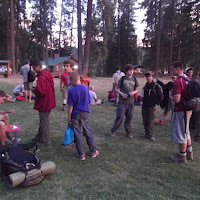 Wilderness Survival people getting ready to go spend the night in the woods.