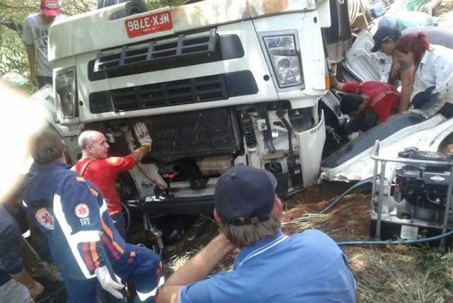 Motorista perde a vida em acidente na PR-364
