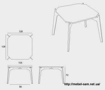 Габаритные размеры фанерного стола