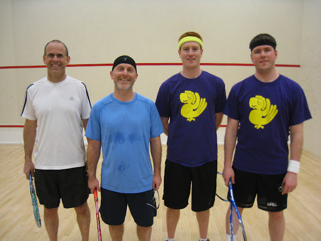 2013 Open 4.5 MA State Softball Doubles finals: Rich Schafer and Doug Steinberg, winners, and Ben Daly and Bryan Ciborowski, finalists.