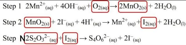 BOD chemical test equation