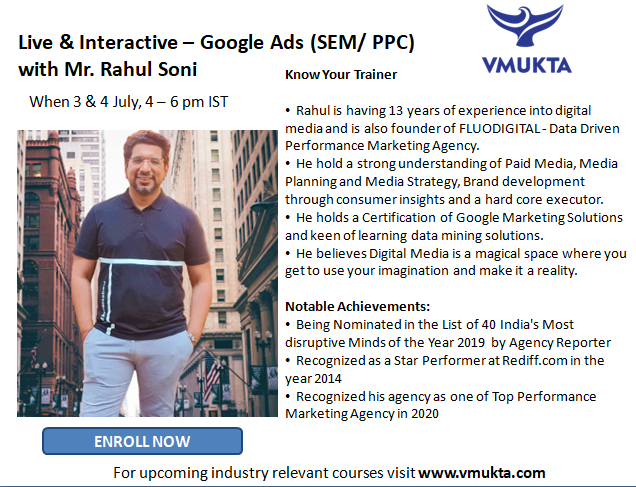Upcoming Live and Interactive Trainings from vmukta™ For Professional Growth